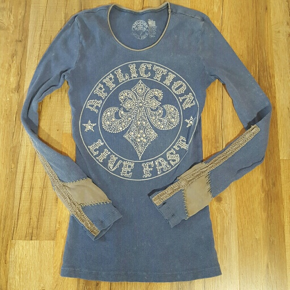 Affliction Tops - Affliction Size Small Long Sleeve Tee Shirt